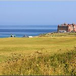 Across the golf course towards The Headland Hotel