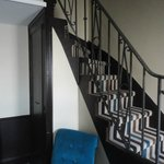 Gorgeous Stairs that led to the bathroom loft!