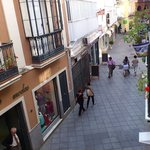 calle Francos from the apartment