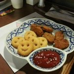 Baan Thai's smiley fries- big hit with the kids!