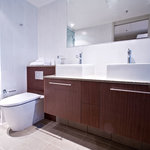 Ensuites and extra bathrooms in larger two bedroom apartments