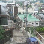 The view from my room window, looking toward Itaewon