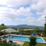 The pool and views over to the Sintra hills