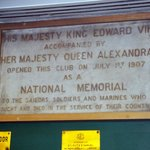 """Plaque at """"The Union Jack"""" London, England"""