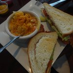JRay's BLT with Cajun Mac and Cheese