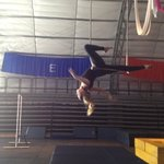 static trapeze practice at sailor circus