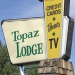 Vintage Sign for Topaz Lodge