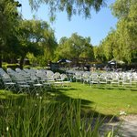 Wedding ceremony seating.