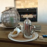 Freshly ground coffee by the open fire - Kingsmead luxury!