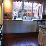 The Aga is the focus of the kitchen