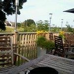 View from decking area at rear of Inn