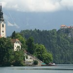 Lake Bled is 45 minutes away