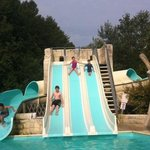 water slide on campsite
