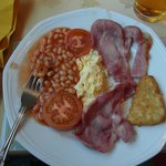 Full English Breakfast (eggs requested to be scrambled and was accommodated)