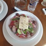 Greek salad at the pool bar
