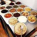 Make your own muesli/fruit/nut/cereal area!