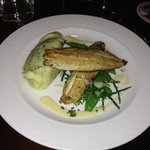 sole with scrummy dill loaded potatoes and sea greens