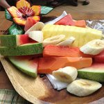 Morning fruit plate