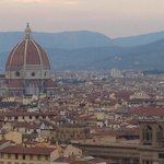 Florence view from Piazzale Michelangelo, short walk from Hotel Silla