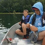Family fun fishing on Lake Mayfield