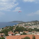 Paragliders in the morning