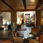 Another of the comfortable common areas of this large hotel, just off the main desk area.