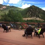 Relaxing on the deck after a nice family bike ride !