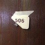 taped room number