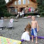 large lake front cabin /beach