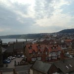veiw overlooking Scarborough town