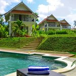 Villas and pool