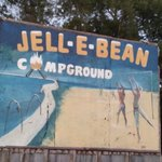 Jell-E-Bean sign from road