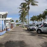 Tropical beach caravan park