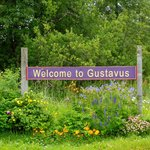 Welcome to Gustavus sign
