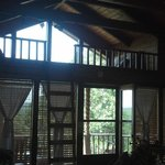 View of the porch and loft