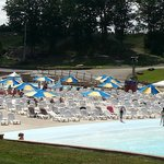 Seating area by Wave Pool