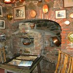 The original hearth in the front bar