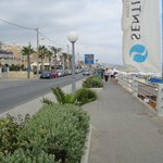 The Beach Road in the city of Rethymno.