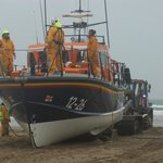 Lifeboat returning to Barmouth