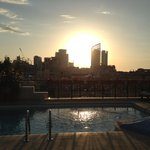 Stunning Beirut sunset from the pool on the 6th floor