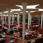 The Great Workroom in the Frank Lloyd Wright-designed SC Johnson Administration Building