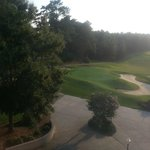 View of the golf course from room