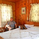 6. Our cozy knotty pine cabin