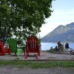 Comfy chairs overlooking Shuswap Lake
