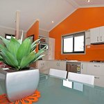Burleigh Beach - deluxe villa kitchen