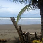 Private black sand beach