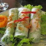 Wonderful salad rolls served any time of day.