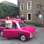 Us outside  New Ing Lodge with my Hillman Husky - taken by Scott the owner