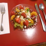 Delicate fruit salad -part of breakfast !