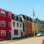 colourful Newfoundland houses